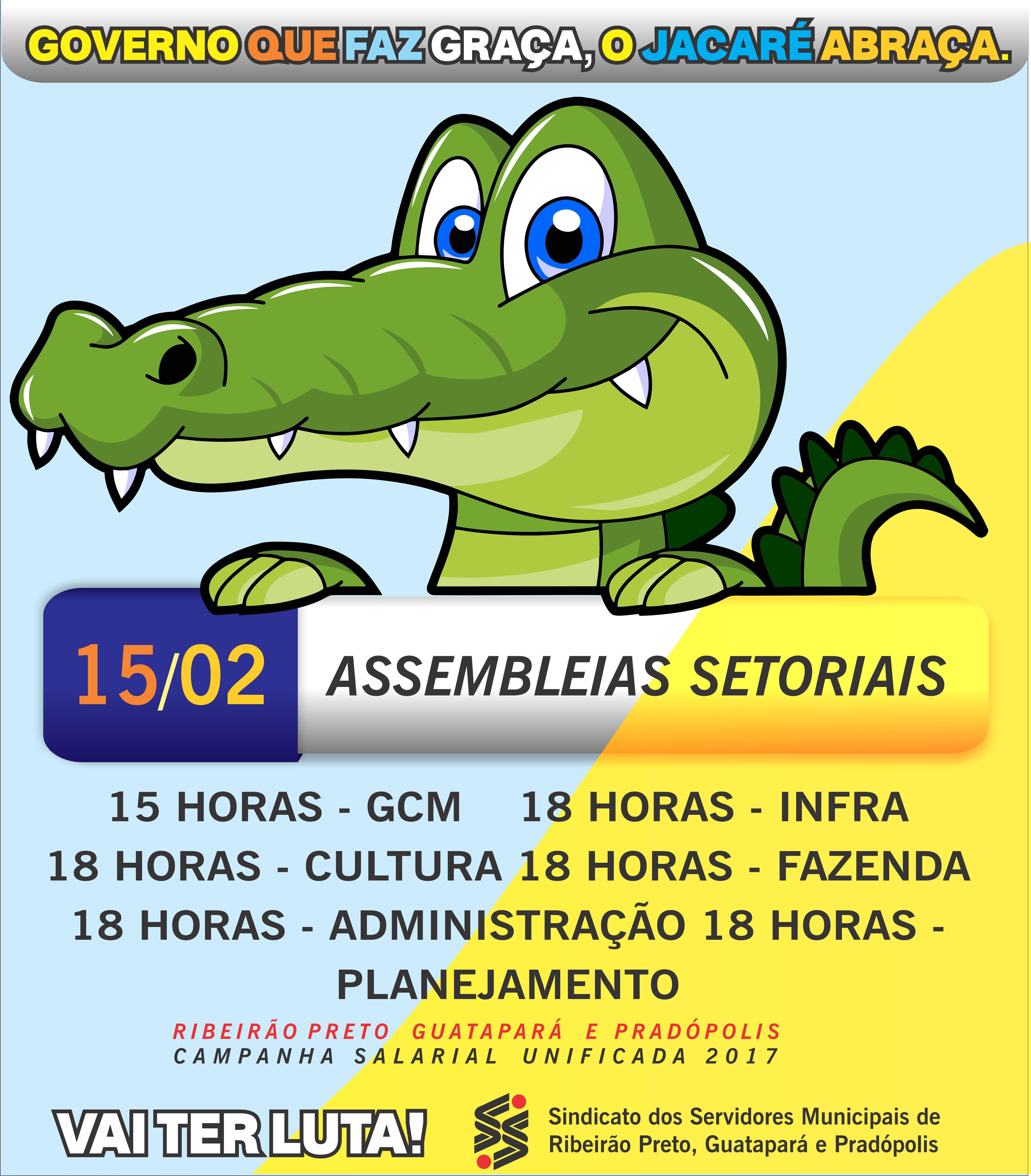 ASSEMBLEIAS SETORIAIS DIA 15