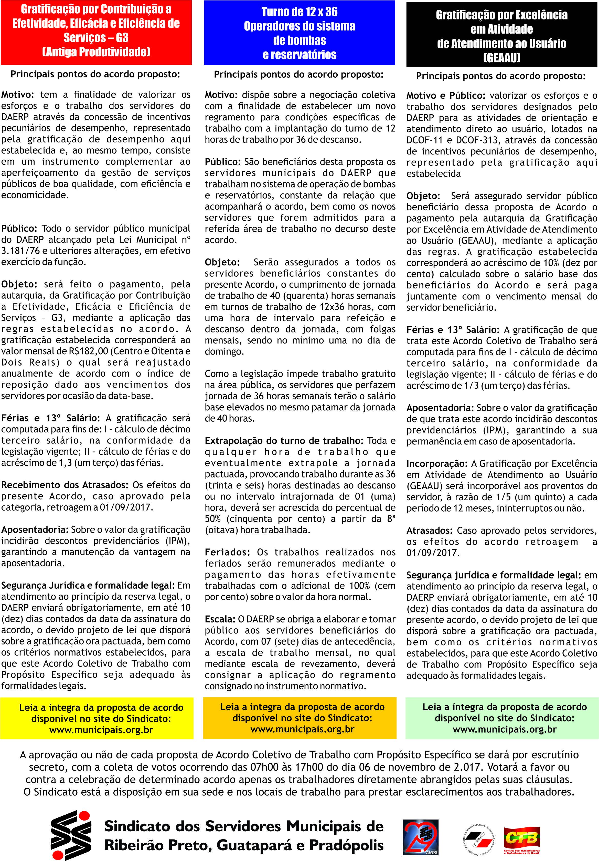 Panfleto Informativo Daerp Negociação Coletiva Aprovado verso